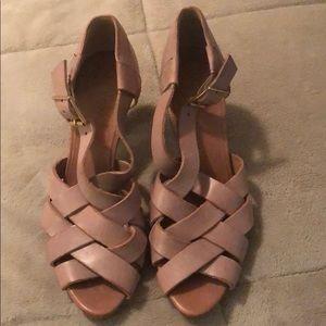 J. Crew Blush Pink Platform Heels